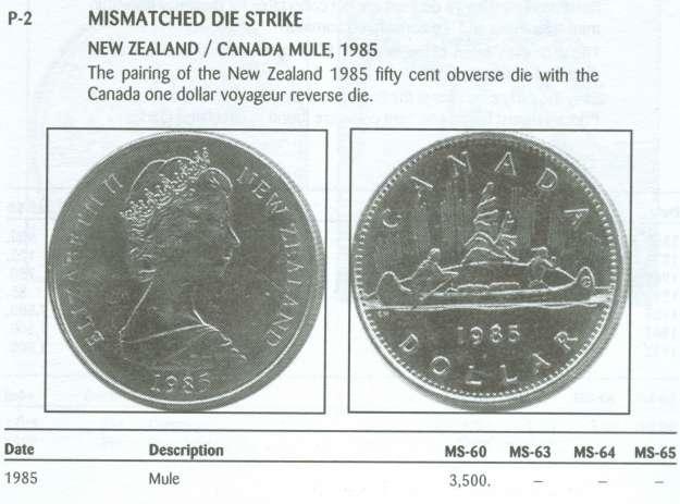 1 dollar 1985 mule - Numicanada com