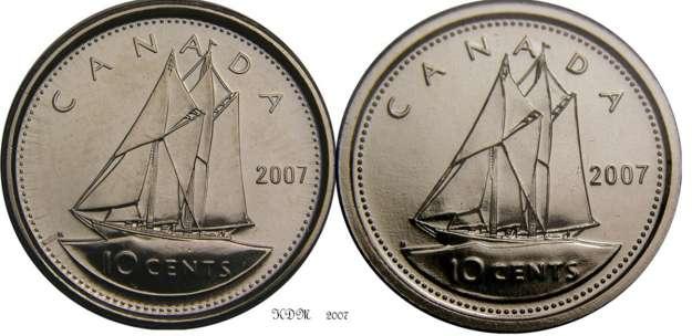 10 Cents 2007 Quot 7 Courb 233 Quot Numicanada Com
