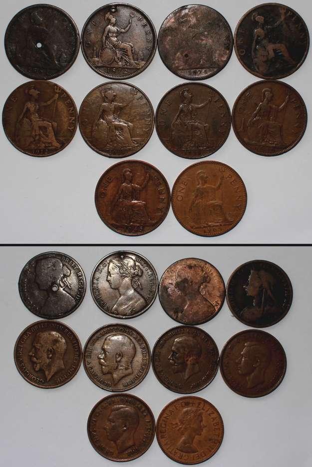 À Vendre - Lot 1/2 & 1 Penny Australien/Anglais 1861-1965