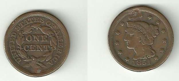 1 cent 1851 américaine - Numicanada.com