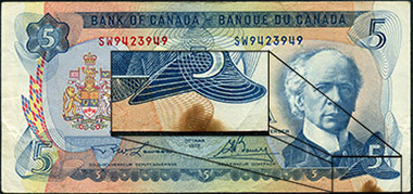 5 dollar 1979 - Stain - Bank of Canada