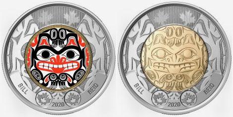 Bill Reid commemorative circulation 2 dollars 2020
