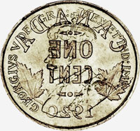 Georges V (1920 to 1936) - Obverse - Die clash