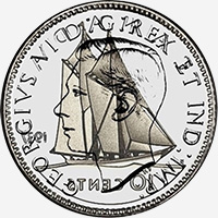 Georges VI (1937 to 1947) - Obverse - Die clash