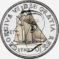 Georges VI (1948 to 1952) - Obverse - Die clash