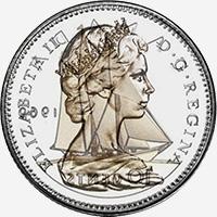 Elizabeth II (1969 to 1978) - Obverse - Die clash