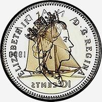 Elizabeth II (1990 à 2003) - Obverse - Die clash