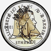 Elizabeth II (1990 to 2003) - Obverse - Die clash