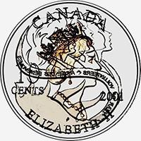Elizabeth II (2001) - Obverse - Die clash
