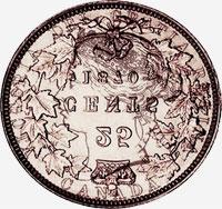 Victoria (1870 to 1901) - Obverse - Die clash