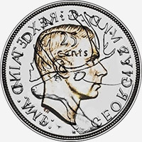 George VI (1937 to 1947) - Reverse - Die clash