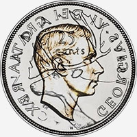 George VI (1948 to 1952) - Reverse - Die clash
