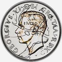 George VI (1948 to 1952) - Obverse - Die clash