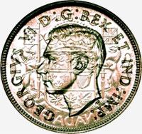 George VI (1937 to 1947) - Obverse - Die clash