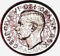 George VI (1948 to 1952) - Obverse - Die clash