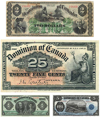 Early bank notes in Canada