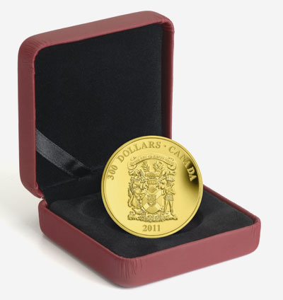 2011 $300 GOLD COIN� NOVA SCOTIA COAT OF ARMS