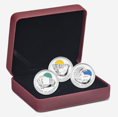 2011 25-CENT STERLING SILVER COIN SET� OUR LEGENDARY NATURE: CANADIAN CONSERVATION SUCCESSES