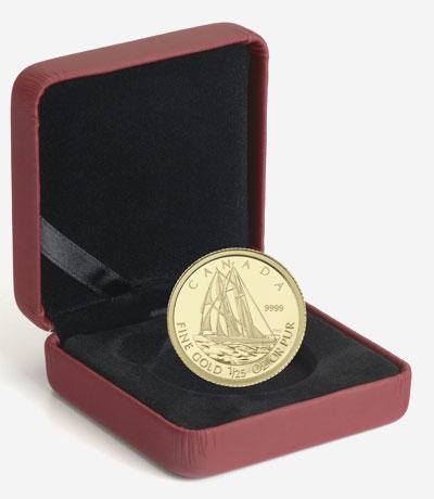 2012 1/25 OZ. GOLD COIN � THE BLUENOSE