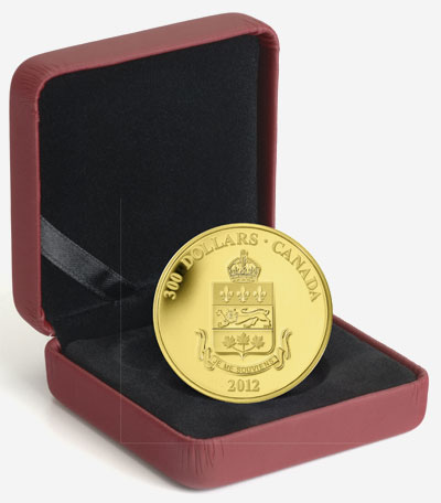 2012 $300 GOLD COIN � QUEBEC COAT OF ARMS