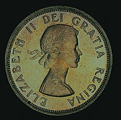 Canada $1, 1954, obverse