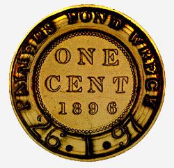 Canada: One Cent, 1896