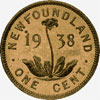 Newfoundland, one cent, 1938