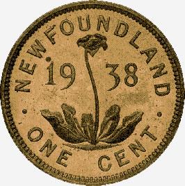 Newfoundland: Bronze Cent, 1938