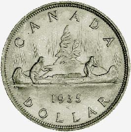 Canada, 1 Dollar, 1935