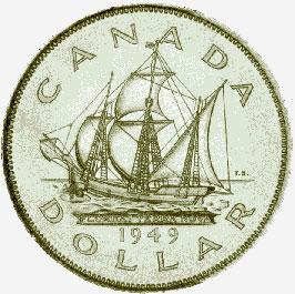Canada, Silver Dollar, 1949