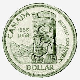 Canada, Silver Dollar, 1958
