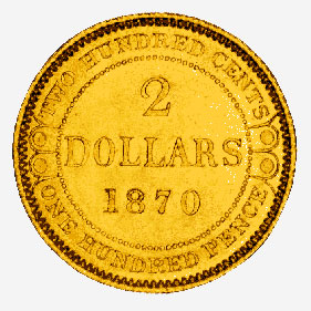 Newfoundland: Gold Two Dollars, 1870