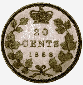 Silver 20 Cents, 1858
