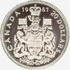Canada, 20 dollars (gold), 1967