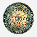 Province of Canada, 5 cents, 1858