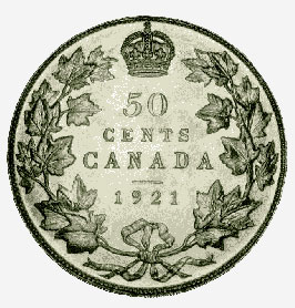 Silver 50 cents, 1921