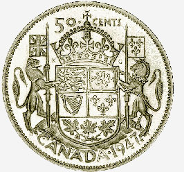 Canada, 50 Cents, 1947 Maple Leaf