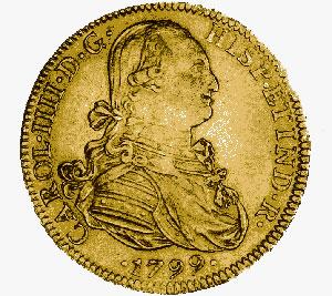 Mexico, 8 escudos (doubloon), 1799