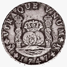 Mexico, 8 reales (pillar dollar), 1747