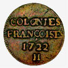 France: Nine-Deniers, Copper, 1722 H