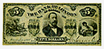 The Bank of London in Canada Five Dollars, 1883