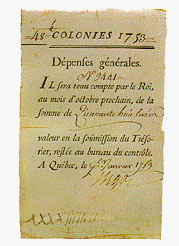 New France: 48 Livres, 1753