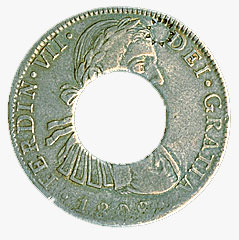 Prince Edward Island, holey dollar, 8 reales, 1808