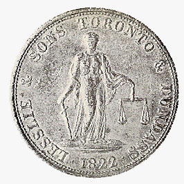 Two-Penny Token, 1822