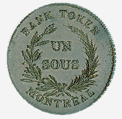 Bank token, Montreal