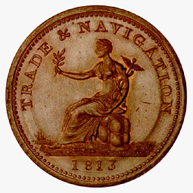 Nova Scotia: Copper Penny 1813