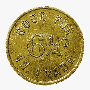 6 1/4-Cent Token, Rossland, B.C.