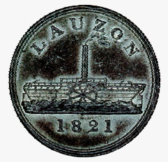 Lower Canada, Lauzon ferry token, 1821
