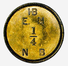 One-quarter Made Beaver Token - Hudson's Bay Company