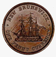 New Brunswick: Copper Penny, 1854